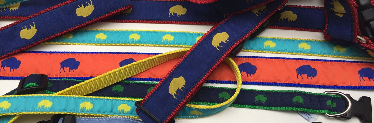 Buffalo print dog collars, Buffalo Themed Dog Collars, Colorful Dog Collars, Elmwood Pet Supplies