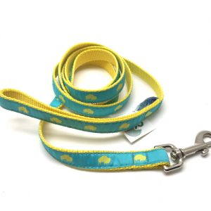 Teal and Yellow Buffalo print dog leash, Buffalo Themed Dog leash, Colorful Dog leash, Elmwood Pet Supplies