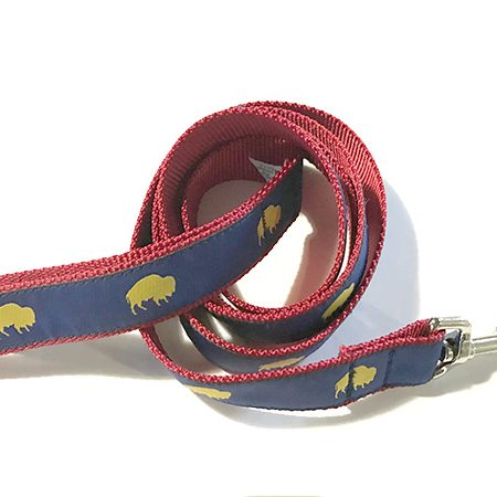 Blue and Red Buffalo print dog leash, Buffalo Themed Dog leash, Colorful Dog leash, Elmwood Pet Supplies